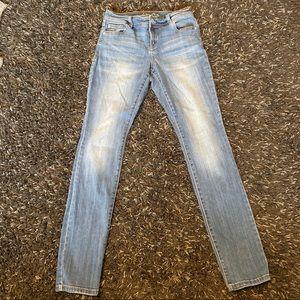 INC international concept medium wash skinny jeans